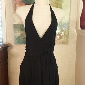 Charlotte Russe Black Halter Dress - Midi